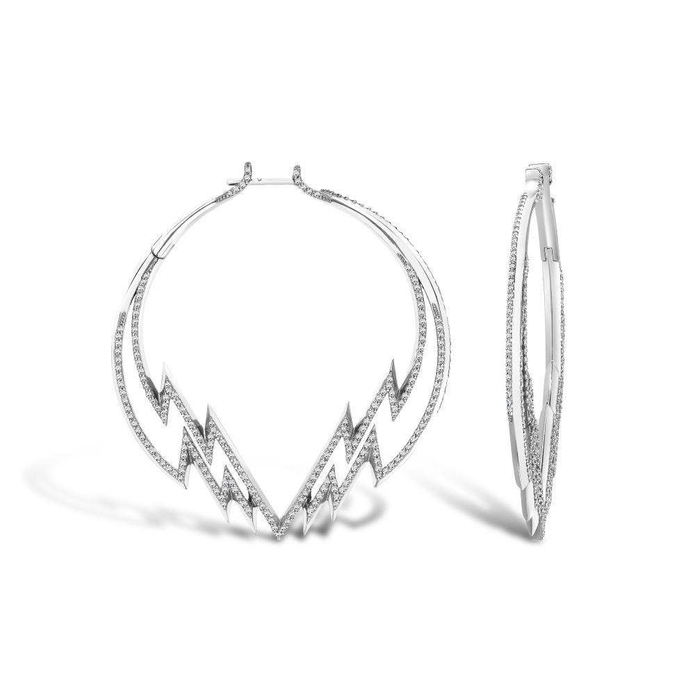 Electra Hoop Earring White Gold Diamonds