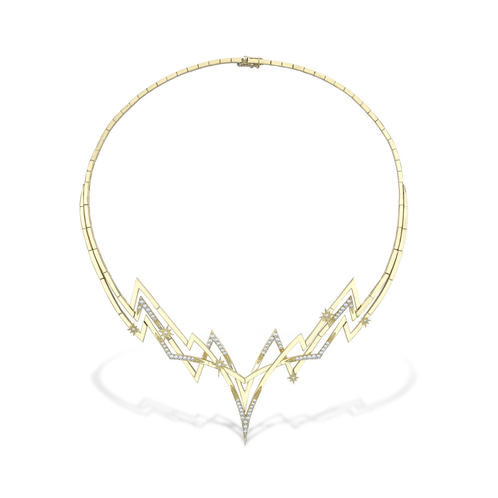 Electra Necklace Yellow Gold and Diamonds 02-New