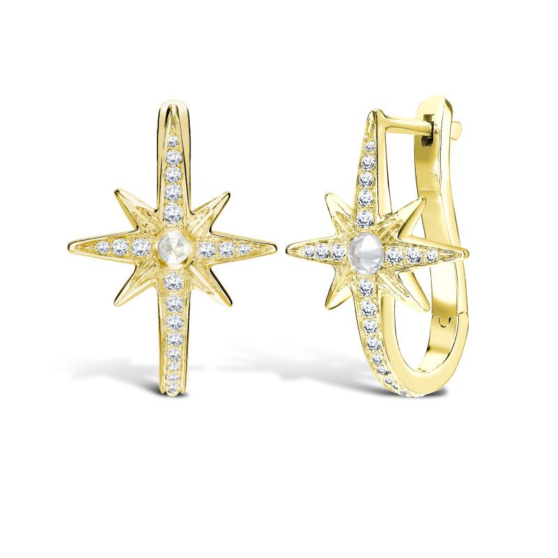 Venyx Star Earring Yellow Gold, Diamonds