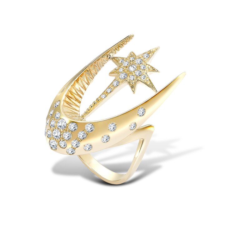 Parrot Star Fish Ring