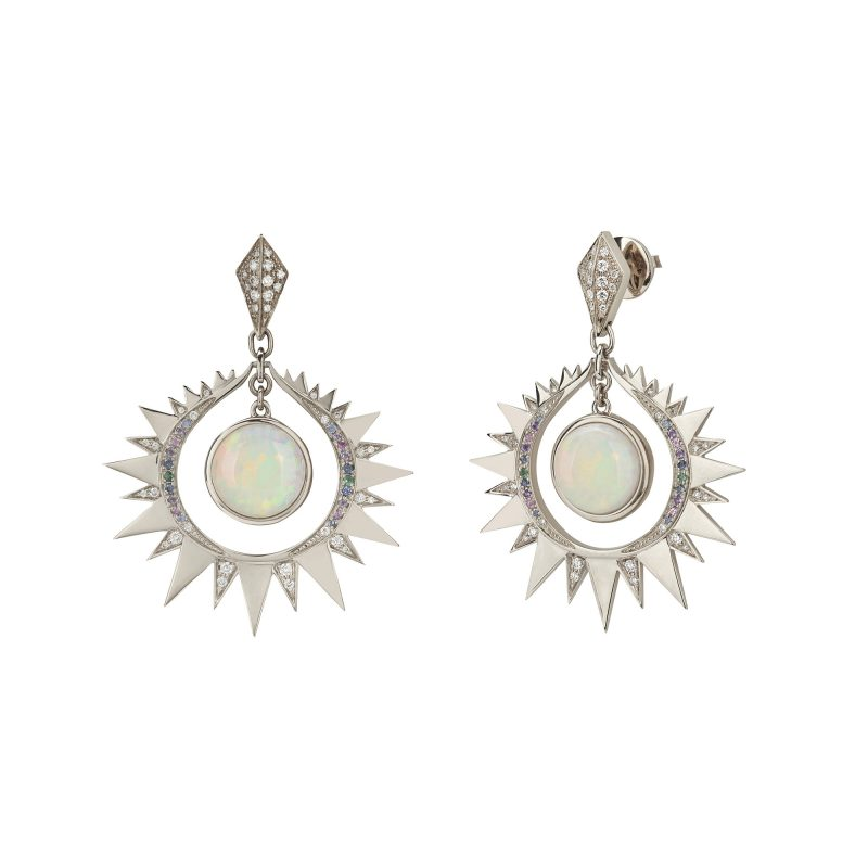 Aruna Earrings White