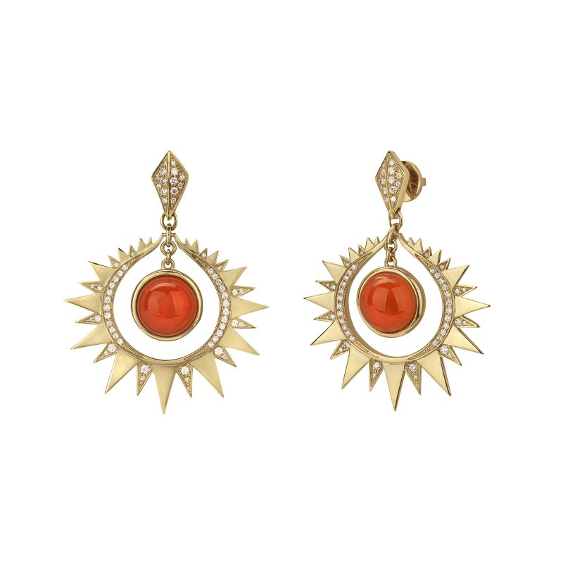 Aruna Earrings Yellow