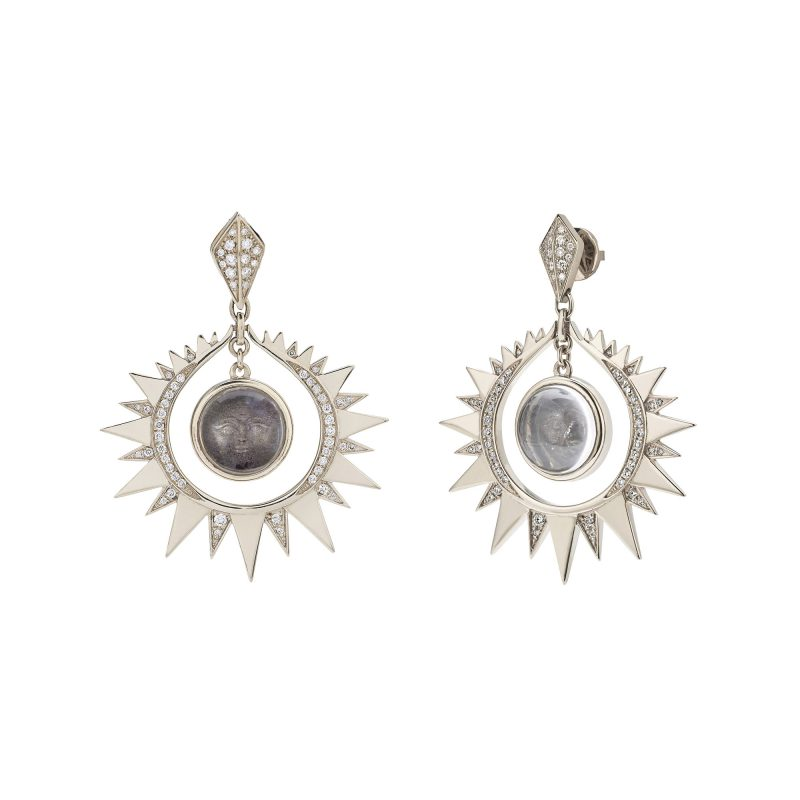 Aruna Sun Earrings White