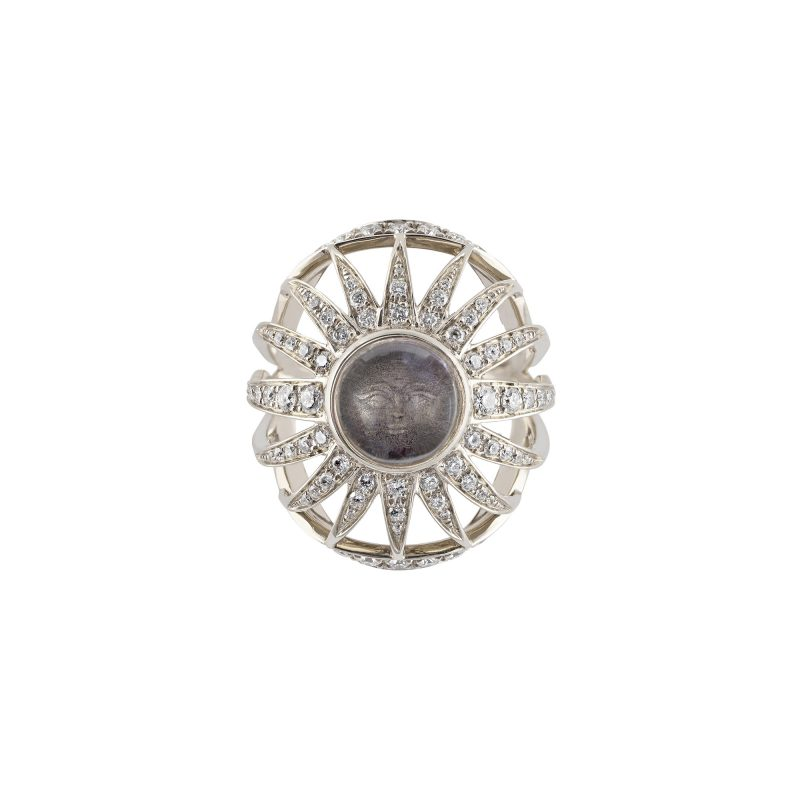 Aruna Sun Ring White A