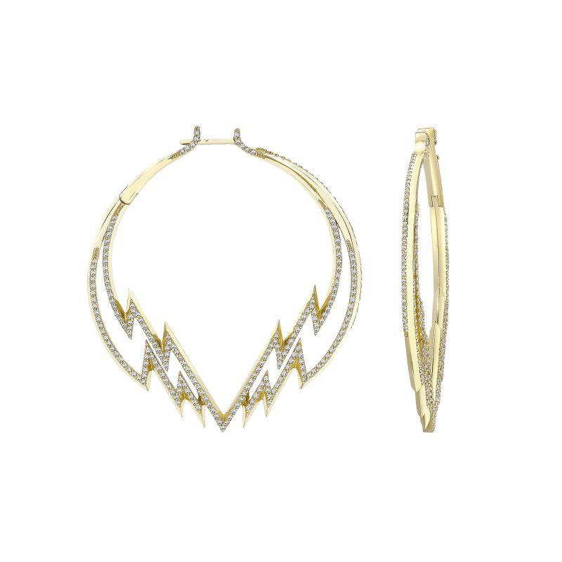 Electra Hoop Earring Diamond Yellow copy