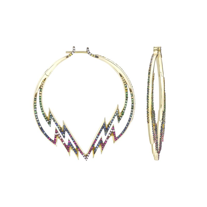 Electra Hoop Earrings Rainbow Yellow copy