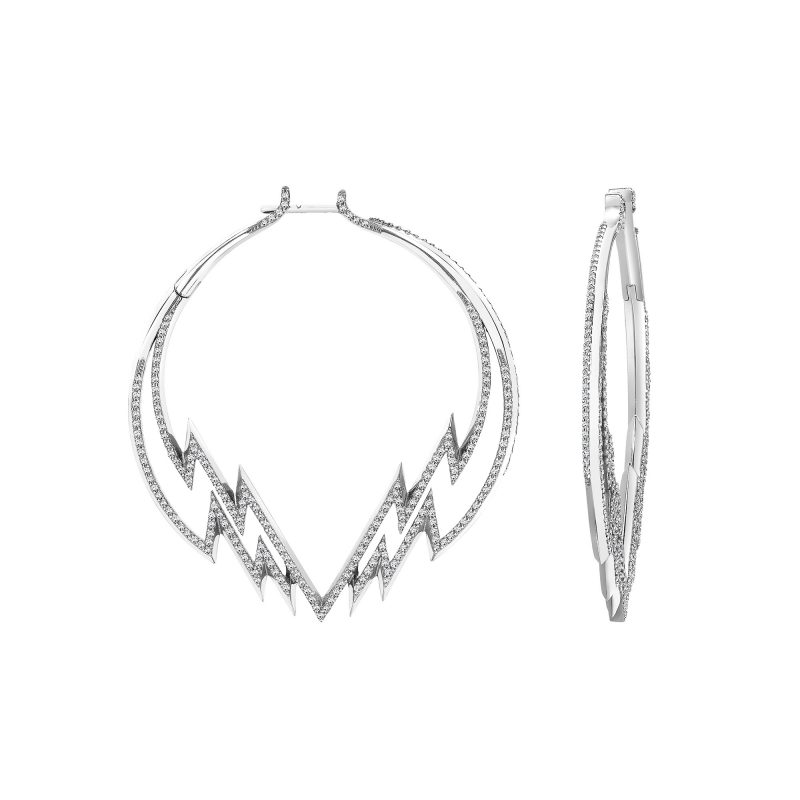 Electra Hoop Earrings White copy