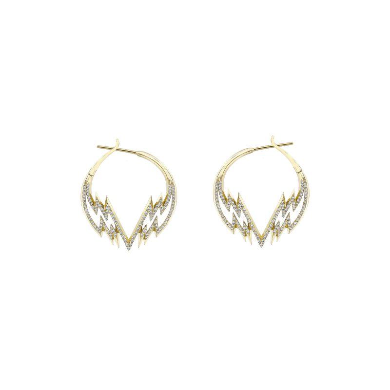 Electra Small Hoop Earrings Yellow copy
