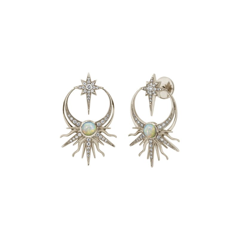 Matahari Earrings White copy