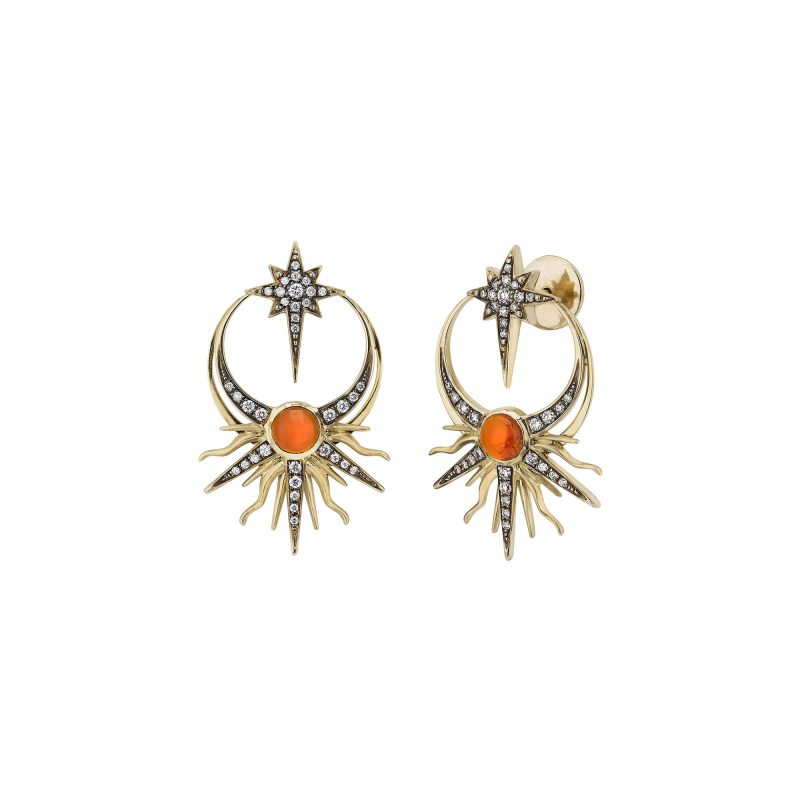 Matahari Earrings Yellow