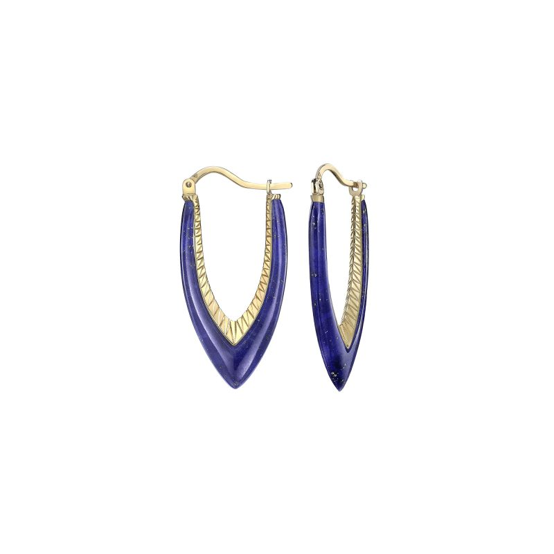 Parrot Star Fish Lapis Earrings Yellow copy