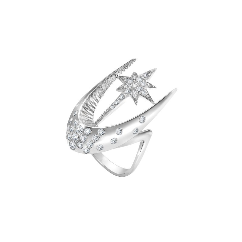 Parrot Star Fish Ring White C copy