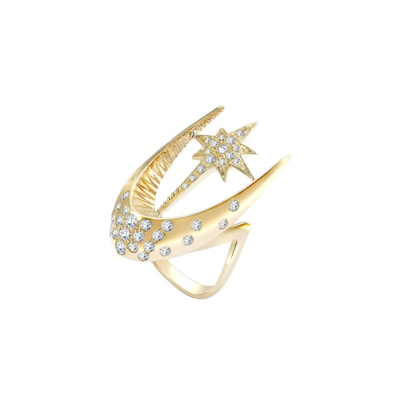 Parrot Star Fish Ring Yellow C copy