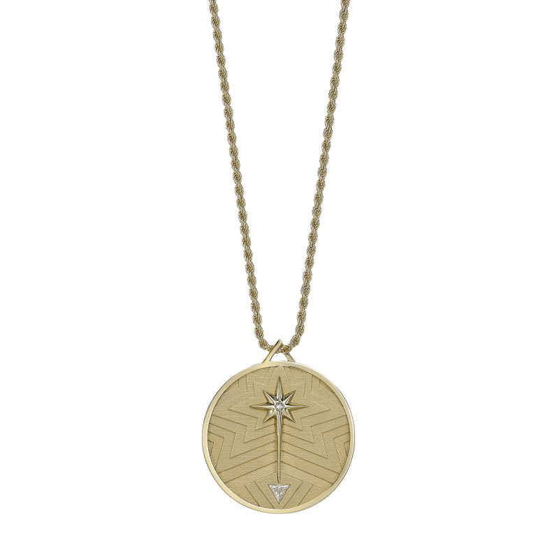 Theiya Lucky Coin Necklace Yellow A